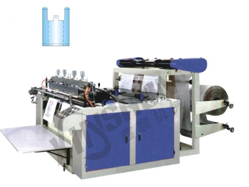 XS-350×2/450×2 Full Automatic High Speed T-shirt Bag Making Machine