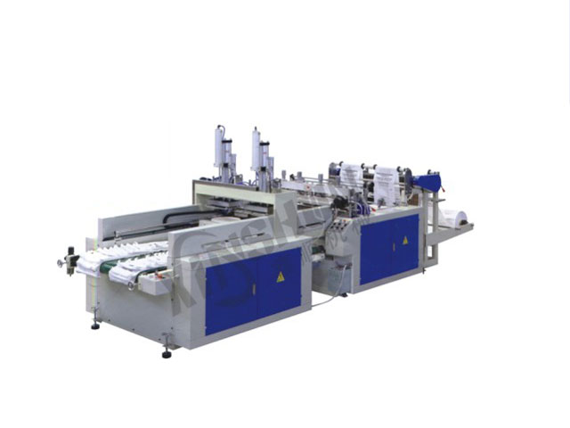 XS-400*2 Automatic High Speed Double Line T-shirt Bag Making Machine