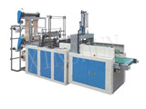 High Speed Double Lines Heat Sealing Cold Cutting Bag Making Machine(With Punching)
